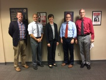 Dr. Blake Busbin, Dr. Cory Callahan, Dr. Jada Kohlmeier, me, Dr. Lamont Maddox - ALCSS in Florence, AL